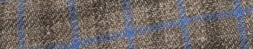 【Ca_81s083】ライトブラウン+3×2.5cm水色・ブラウンオーバーチェック