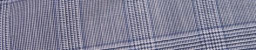 【Mc_8s21】白黒グレンチェック+4×3.5cmブループレイド