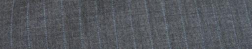 【Mc_8s31】ミディアムグレー柄+8ミリ巾ライトブルーストライプ