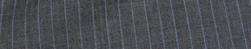 【Mc_8s59】ミディアムグレー+6ミリ巾ライトブルー・織り交互ストライプ