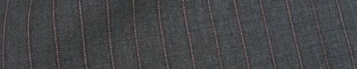 【Cu_8s17】ミディアムグレー+9ミリ巾エンジ・白ドットストライプ