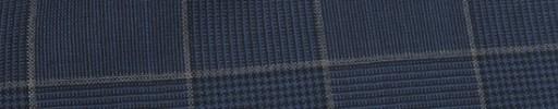【Hr_Req05】ネイビーグレンチェック+8.5×6.5cmグレープレイド