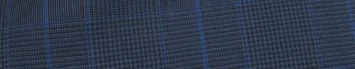 【Hr_Req27】ネイビーグレンチェック+7.5×5.5cmブループレイド