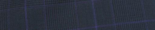 【Hr_Req28】ダークネイビーグレンチェック+7.5×5.5cmパープルプレイド