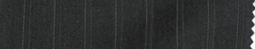【PS_8s14】チャコールグレー+1.3cm巾織り・ドットストライプ