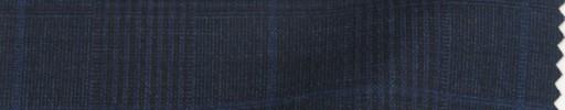 【PS_8s22】ダークネイビー6.5×5cmファンシーグレンチェック+ネイビープレイド