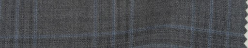 【P_8s22】ミディアムグレー地+5×4.5cm水色・織りファンシープレイド