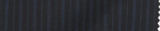 【P_8s25】黒地+9ミリ巾ブルー交互ストライプ
