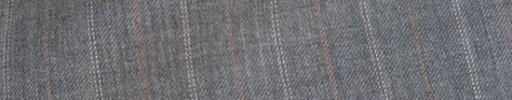 【Cb_8ss018】ライトグレー+1.7cm巾薄赤茶・白Wドット交互ストライプ