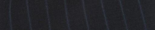 【Cb_8ss021】ダークネイビー+1.2cm巾ブルー・白ドットストライプ