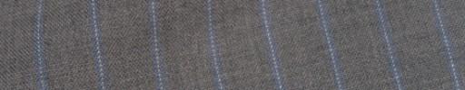【Cb_8ss022】ライトグレー+1.2cm巾ブルー・白ドットストライプ