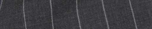 【Cb_8ss037】チャコールグレー+1.6cm巾白ストライプ