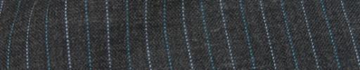 【IB_8s025】ミディアムグレー+1cm巾ライトブルー・白交互ストライプ