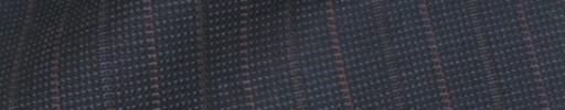 【IB_8s063】ダークブルーグレーピンチェック+1.4cm巾赤・グレー交互ストライプ