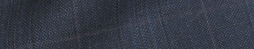 【IB_8s068】ブルーグレーチェック+5.5×4.5cmブラウンウィンドウペーン