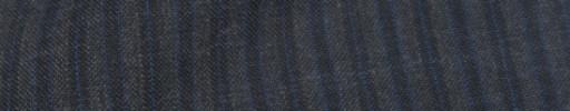 【IB_8s096】チャコールグレー+6ミリ巾ブルー・黒ストライプ