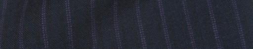 【IB_8s098】ダークネイビー+8ミリ巾パープルWドットストライプ