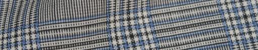 【IB_8s370】白黒5×4cmグレンチェック+ライトブループレイド