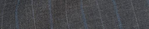 【IB_8s375】ミディアムグレー+2cm巾ライトブルー+白ドット交互ストライプ