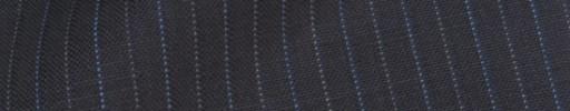 【IB_8s377】ダークブルーグレー+1cm巾ブルー・白ドット交互ストライプ