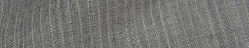 【IB_8s383】ライトグレー+7ミリ巾ライトオレンジ・織り交互ストライプ