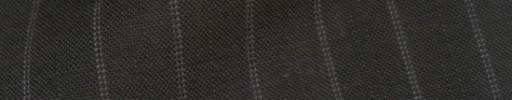 【IB_8s384】ダークブラウン+1.3cm巾Wドット・織り交互ストライプ