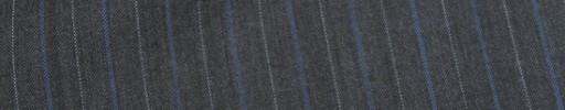 【Mc_8s83】チャコールグレー+1.4cm巾ブルーグレー・白交互ストライプ