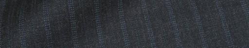 【Ca_81w012】ミディアムグレー+1.3cm巾水色Wストライプ