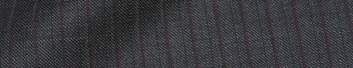 【Dol_8w21】グレー+9ミリ巾赤茶・織りストライプ