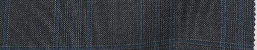 【Lo_5w055】グレー5×4.5cmチェック+ブループレイド