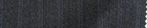 【Bc_sp09】チャコールグレー+1.5cm巾織り・ブルーストライプ