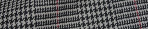 【Hs_8ct26】グレーホワイト・黒グレンチェック+7×5cm赤オーバープレイド
