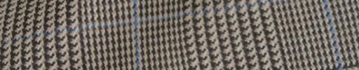 【Hs_8ct27】ブラウングレンチェック+7×5cm水色オーバープレイド