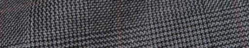 【Hs_8ct29】ミディアムグレーグレンチェック+6×4.5cm赤茶オーバープレイド