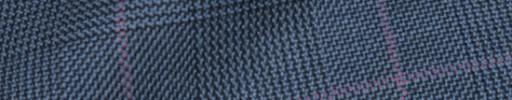 【Hs_8ct32】ライトブルーグレンチェック+6×5cmピンクオーバープレイド