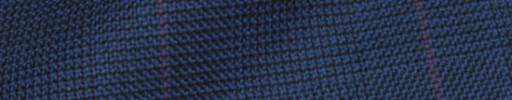 【Hs_8ct33】ライトネイビーグレンチェック+6×5cm赤オーバープレイド
