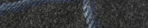 【Hs_8st04】チャコールグレー+8×7cmブルーミックスチェック