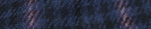 【Hs_8st09】ブルー・黒ハウンドトゥース+7.5×6cmピンクプレイド