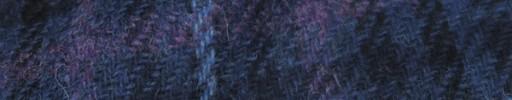 【Hs_8st10】ブルー・黒ハウンドトゥース+ブルー×パープルオーバープレイド