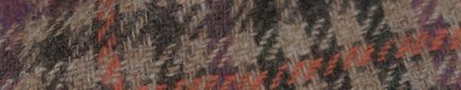 【Hs_8st11】ブラウン×グリーンミックスガンクラブチェック+パープル×オレンジオーバープレイド