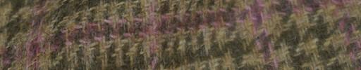 【Hs_8st13】ブラウンミックスグレンプレイド+パープルオーバープレイド