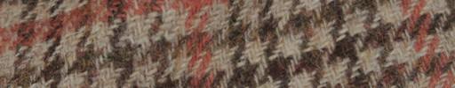 【Hs_8st22】ライトブラウンミックス・ガンクラブチェック+5.5×5cmオレンジプレイド