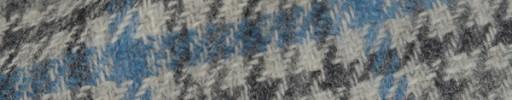 【Hs_8st23】ライトグレーミックス・ガンクラブチェック+5.5×5cmライトブループレイド