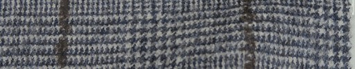 【Mjt_49】ブルーグレーグレンチェック+7×7cmブラウンオーバープレイド