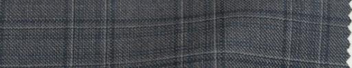 【Mps_w09】ミディアムグレー+4×3.5cmファンシーチェック・ブループレイド
