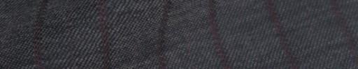 【Cb_8w093】ミディアムグレー+1.5cm巾レッド交互ストライプ