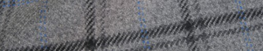 【Ha_8mb08】ライトグレー+6×4.5cmブラックチェック+水色チェック