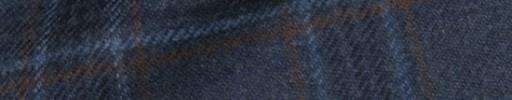 【Ha_8mb46】ダークブルー+8×6.5cmネイビー・ブルー・ブラウンチェック