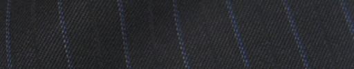 【Ib_8w213】ブラック+1.3cm巾ブルードット・織り交互ストライプ