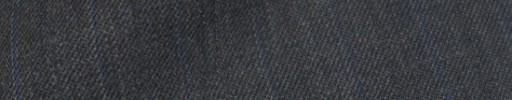 【Ib_8w214】ミディアムグレー+1.3cm巾ブルードット・織り交互ストライプ
